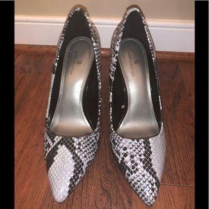 Women's Leather Snake Skin Heels